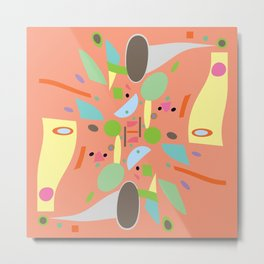 Peach Projection Abstract Metal Print
