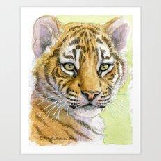 Tiger Cub portrait 815 Art Print