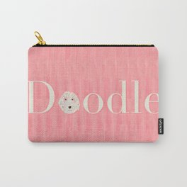 Pink Golden Doodle Carry-All Pouch