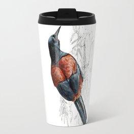 Mr Tieke , New Zealand Saddleback bird Travel Mug