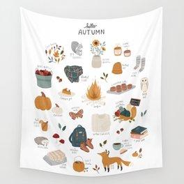 Hello Autumn Wall Tapestry