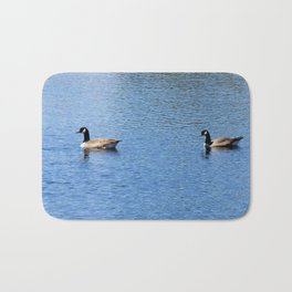 Pair of Geese Wading On A Lake Bath Mat