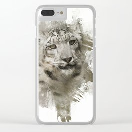 Expressions Snow Leopard Clear iPhone Case