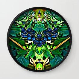 Lantana Berry Elementals Wall Clock