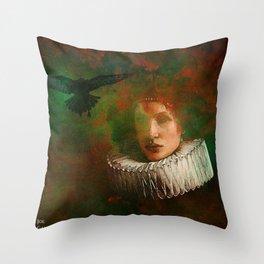 countess of the crow Throw Pillow