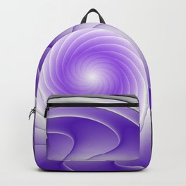 The Power Of Purple, Modern Fractal Art Graphic Backpack