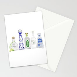 Tequila Bottles Illustration Stationery Cards
