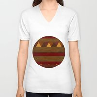 native american V-neck T-shirts featuring native. by kelmeloo