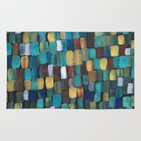klimt Area & Throw Rugs featuring New Klimt  by Angela Capacchione