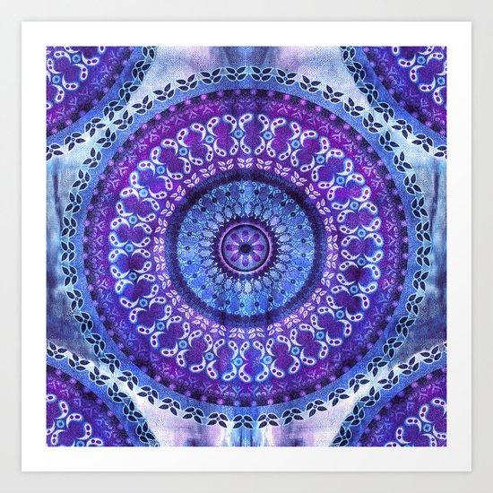 Hydrangea Mandala Art Print