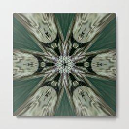 The Green Unsharp Mandala 7 Metal Print