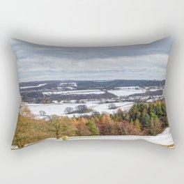 Muggleswick snow landscape Rectangular Pillow