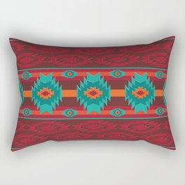 Southwestern navajo tribal pattern. Rectangular Pillow