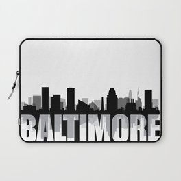 Baltimore Silhouette Skyline Laptop Sleeve
