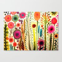 garden Canvas Prints featuring printemps by sylvie demers