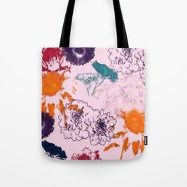 fall floral pink Tote Bag