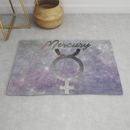 Mercury Astronomical Symbol  Rug