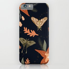 Autumn Moths iPhone Case