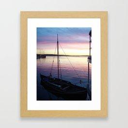 Sunset Oslo Framed Art Print