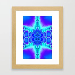"""Electric Purplescape"" Trippy Fractal Art Framed Art Print"