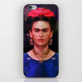 FRIDA KAHLO GEOMETRIC PORTRAIT iPhone Skin