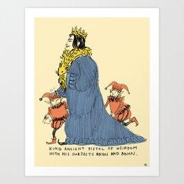 King Ancient Pistol of Weirdom Art Print