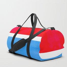 Colorful Bright Minimalist Rothko Midcentury Modern Art Vintage Pop Art Neon Red Cerulean Blue Duffle Bag