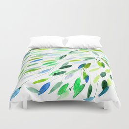 Nature love || watercolor Duvet Cover