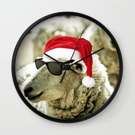 Tis The Season - Sheep Wall Clock
