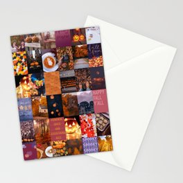 fall photo collage Stationery Cards
