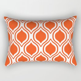 Ogee Florida University silhouette orange and blue pattern sports football college gators gator fan Rectangular Pillow