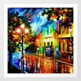 Tardis Art And The Light Street Art Print