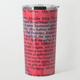 Literature Art Pink Pattern Travel Mug