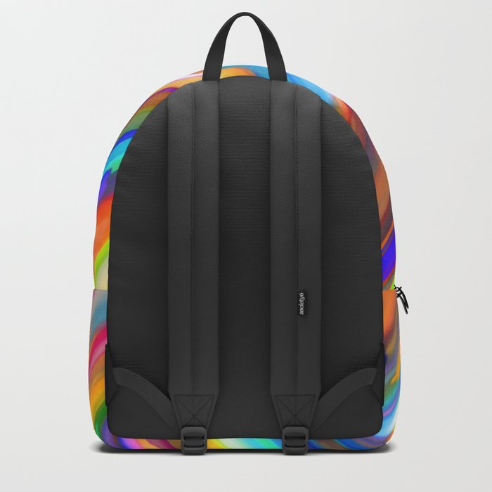 Colorful digital art splashing G391 Backpack