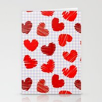 notebook Stationery Cards featuring Notebook of hearts by Ylenia Pizzetti