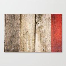 Wood, Wood, Red Canvas Print