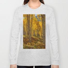 Autumn Aspen Forest Aspen Colorado Long Sleeve T-shirt