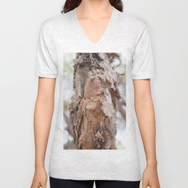 tree trunk in sacsayhuaman Unisex V-Neck