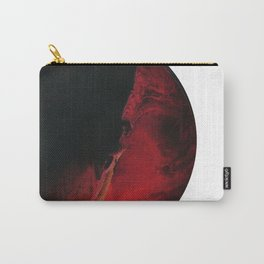 Black Lava on White Carry-All Pouch