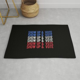 Show Up And Vote Rug