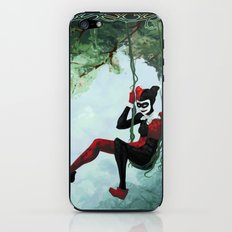 The Vine Swing Harley Quinn and Poison Ivy iPhone & iPod Skin