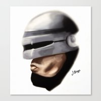 robocop Canvas Prints featuring Robocop. by Jamie Briggs