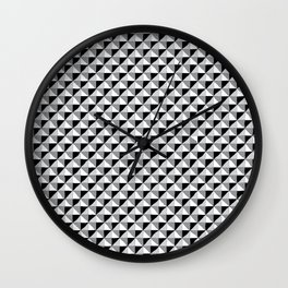 Pattern_1 B&W Wall Clock
