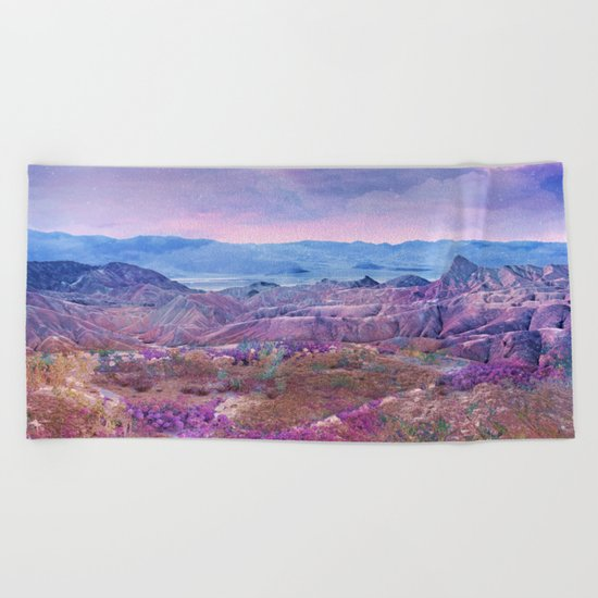 Life Valley California Desert Blooming Fantasy Beach Towel