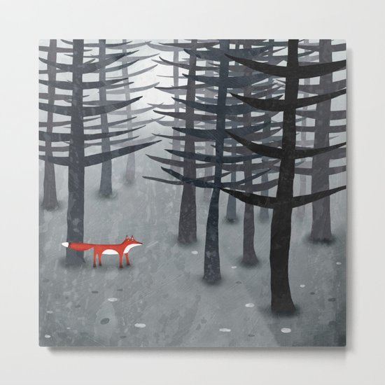 The Fox and the Forest Metal Print