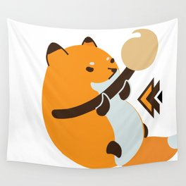 Smol Bean Fox Wall Tapestry