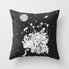 Comic World Throw Pillow