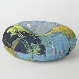 Japan Alps 12title, Hotaka Mountain - Digital Remastered Edition Floor Pillow