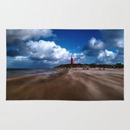 Lighthouse on the Beach Rug