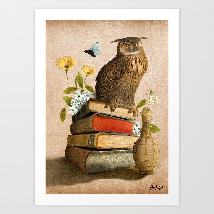 Wise Owl Art Print